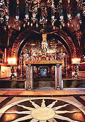 Crucifixion Altar - The Church of the Holy Sepulchre