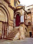 The Frankish Chapel in the Facade of the Church of the Holy Sepulchre.
