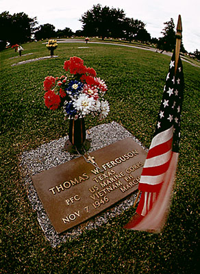 Vietnam Soldier's Grave - photograph by Bob Smith.