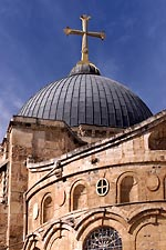Dome atop the Church of the Holy Sepulcher by Mike DuBose.