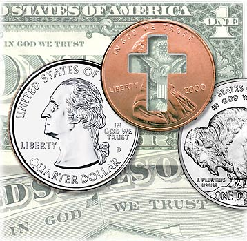 In God We Trust photo composite