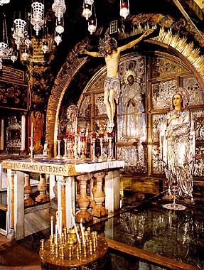 The Altar of the Crucifixion, The Basilica of the Holy Sepulchre - Jerusalem