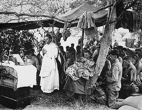 Mass for Marines at Saipan